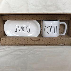 NWT Rae Dunn Oval Plate & Mug Set